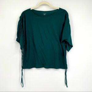 14th & Union woman's top shirt blouse green small